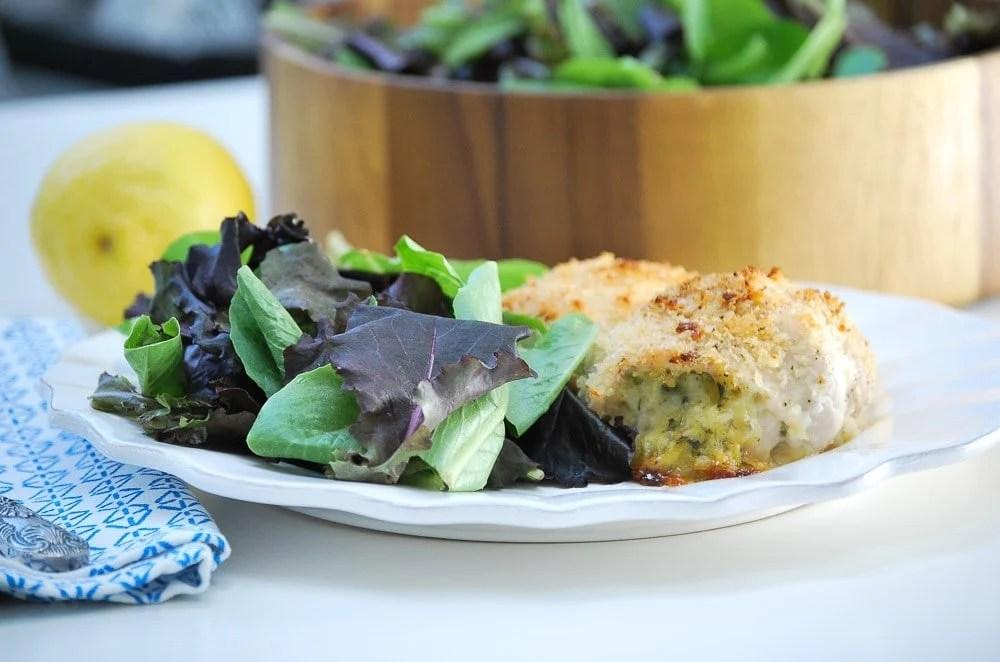 Chicken Cutlet Zucchini Roll Ups