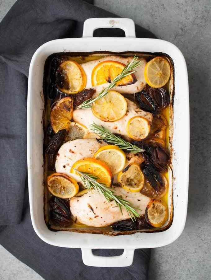 Baked Sweet Date & Lemon Chicken