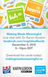 Making Meals Meaningful -Unicef Canada