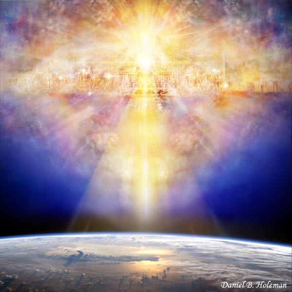 Image result for pictures of the new Jerusalem descending from heaven to the new earth