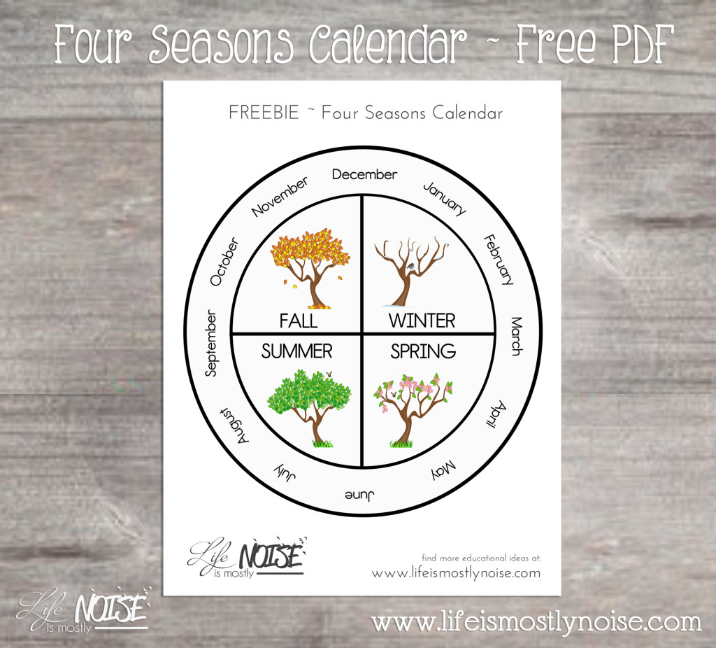 Four Seasons Wheel Calendar