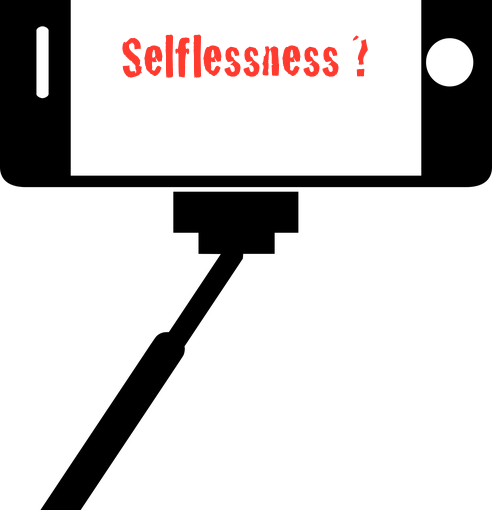 self-promotion and selflessness