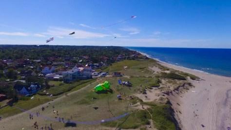 Dronebillede over Dragefestival i Liseleje.