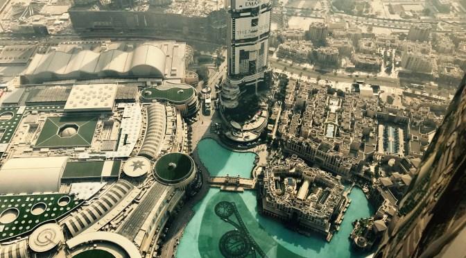 Dubai City fra Burh Kalif skyskraberen.
