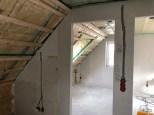 Isolering i loftet på ny hus