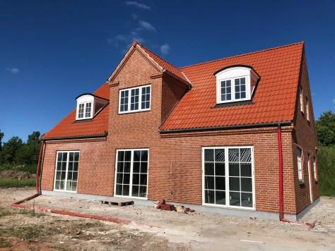 Færdigt nybygget hus