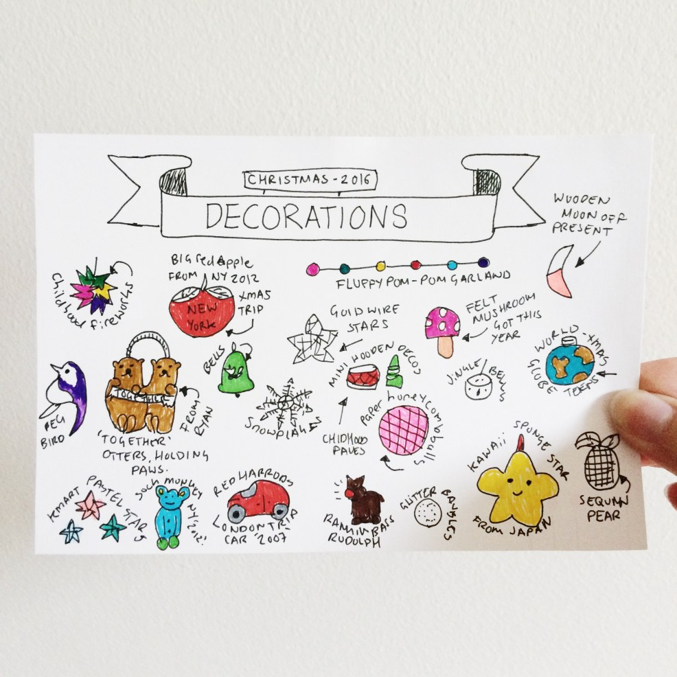 Illustrated decorations