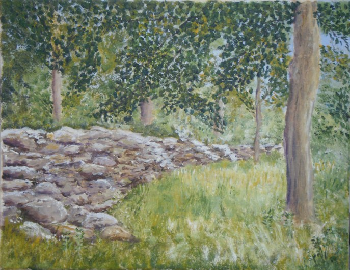 """Stone Wall"" (oil), NFS"