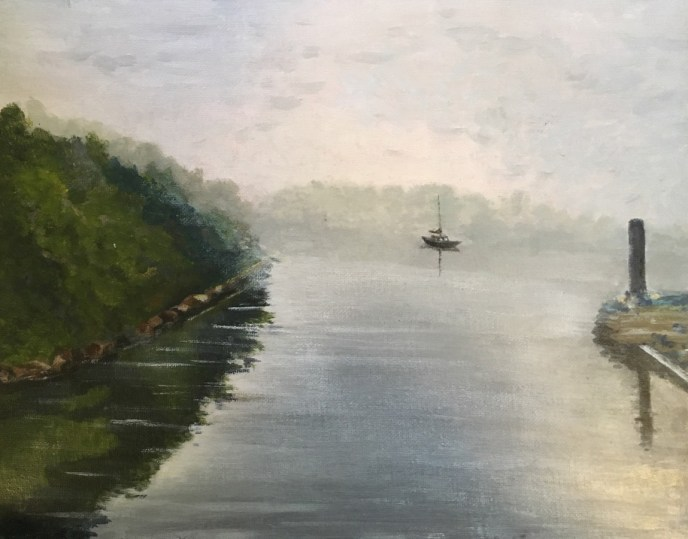 """Early Morning Fog"" (acrylic), NFS"