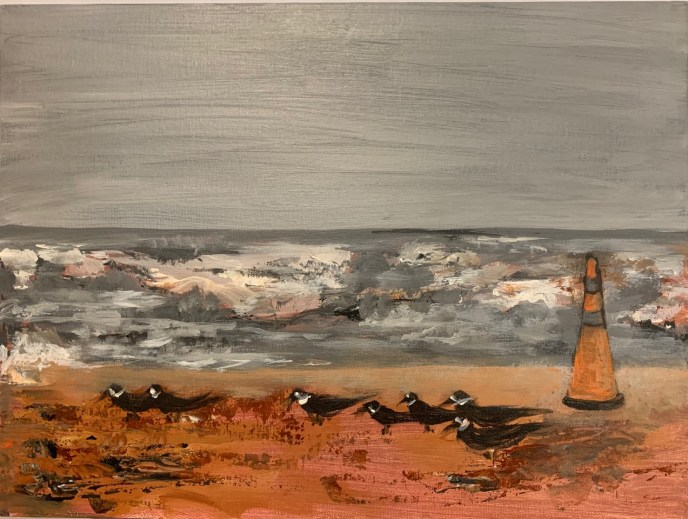 Black Skimmers (acrylic), NFS