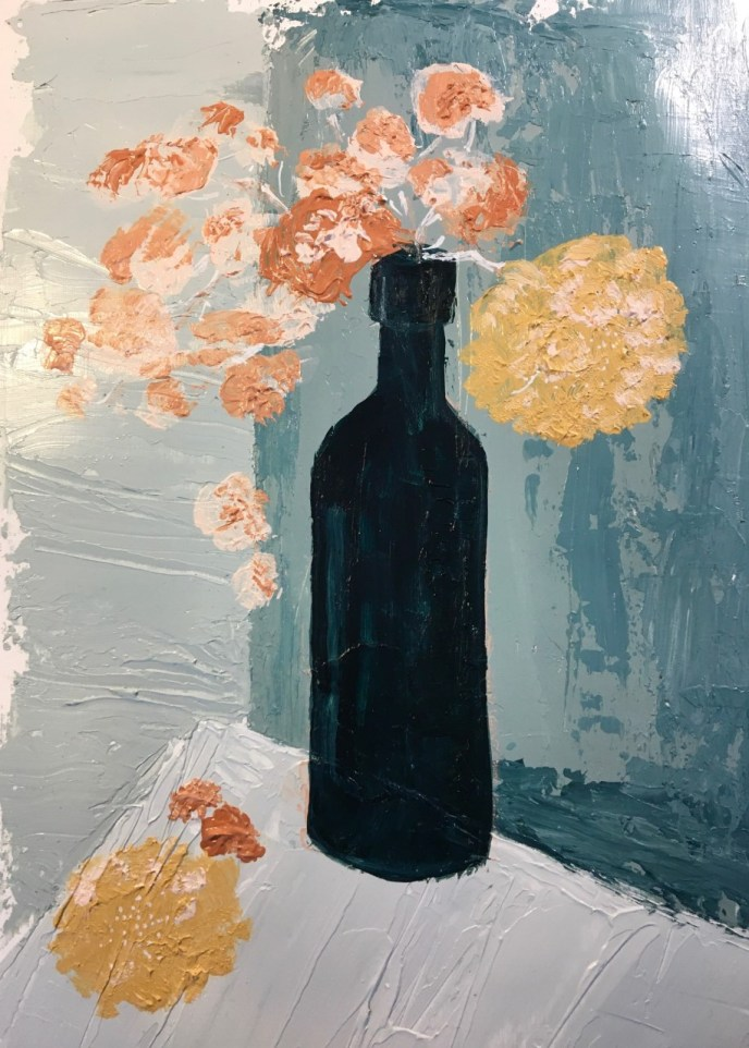 Black Bottle II (acrylic, 11x14) - NFS