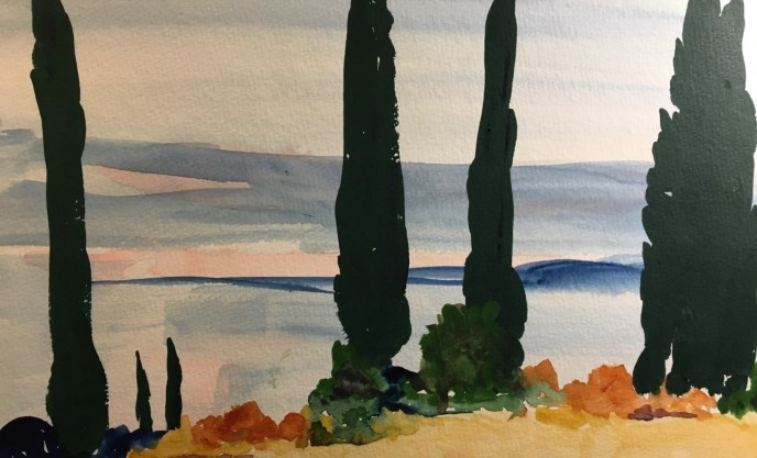 Sargent in Italy (watercolor, 10x12) - NFS