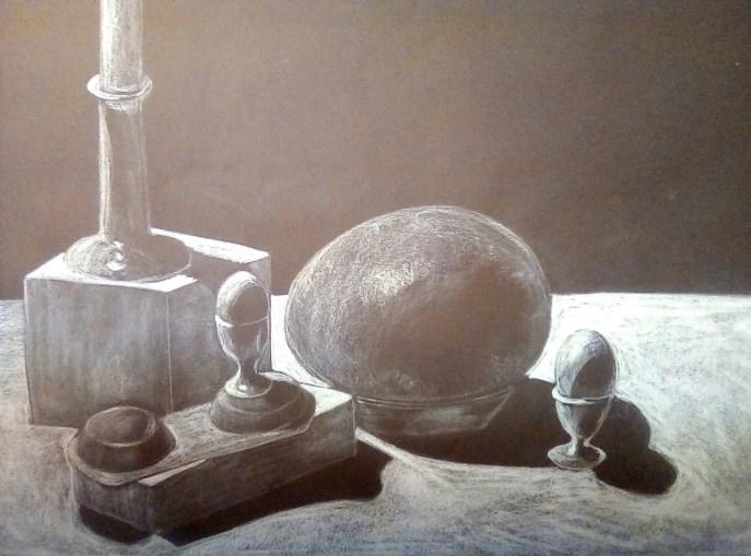 """Eggs"" (charcoal) - NFS"