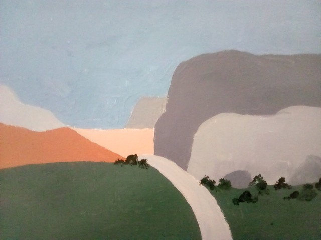 "Patricia Bisshopp ""The Bluffs"" (acrylic), NFS"