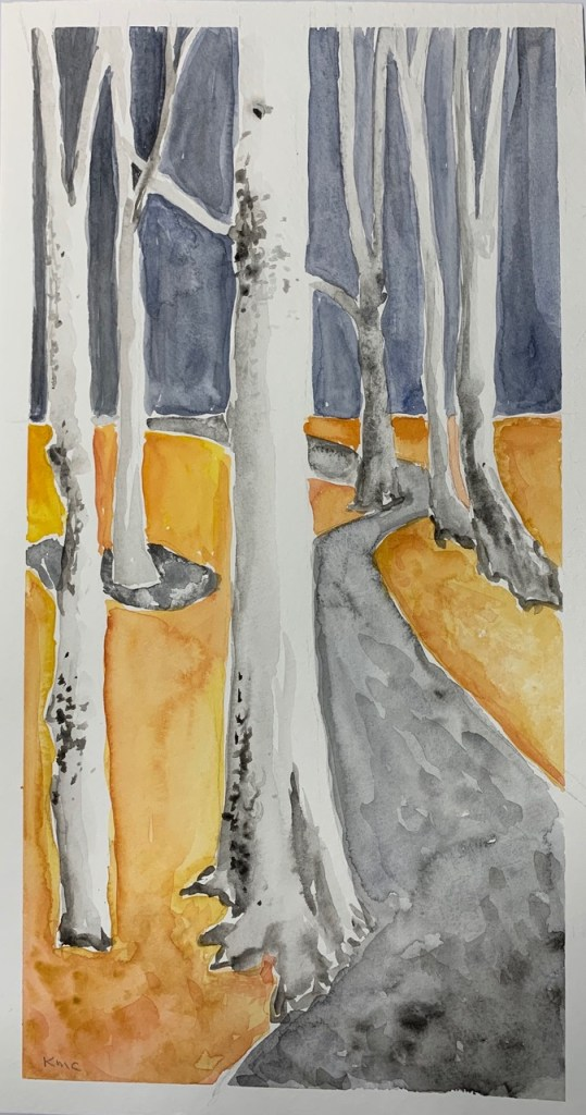"""Road Not Taken"" (watercolor), NFS"