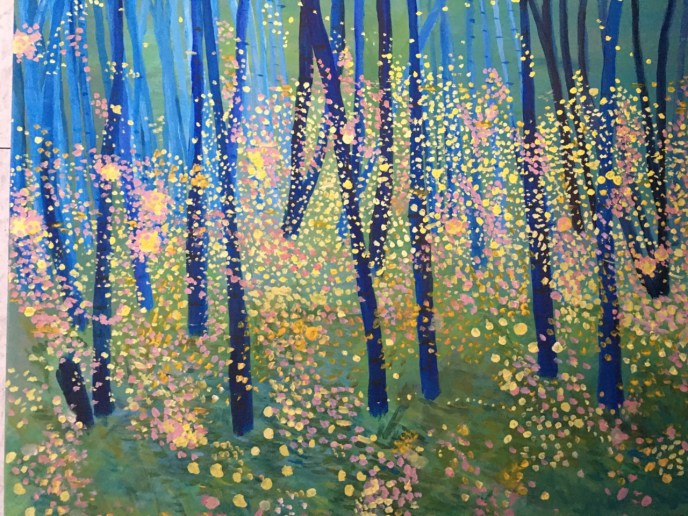 Fireflies (acrylic on canvas, 16x20) - Price Negotiable