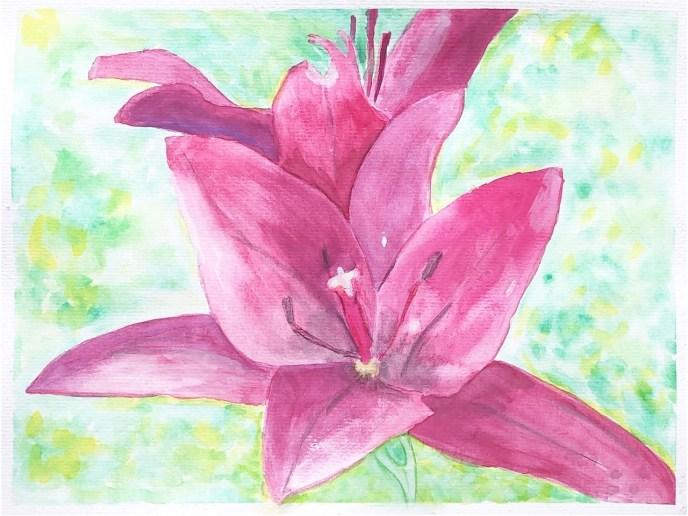 """Wayland Ave Daylily"" (watercolor) - NFS"