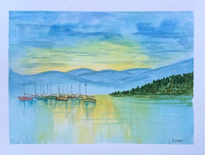 """Safe Harbor"" (watercolor) - Negotiable"