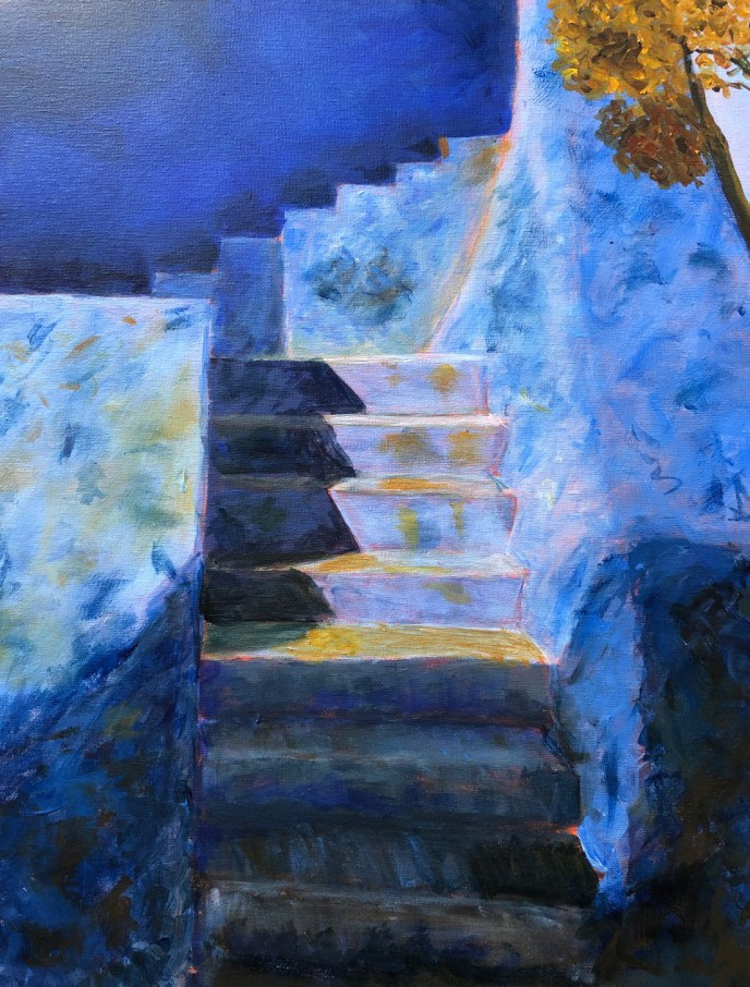 """Chefchaouen, Stairs"" (acrylic), NFS"
