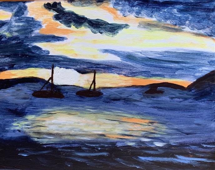 """""""Sunset"""" (acrylic) - NFS"""
