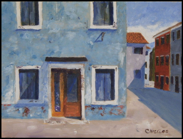 "Chuck Nickles ""Hotel Boarded Up"" (oil), Neg"