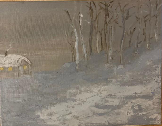 Winter Calm (acrylic, 11x14) - NFS
