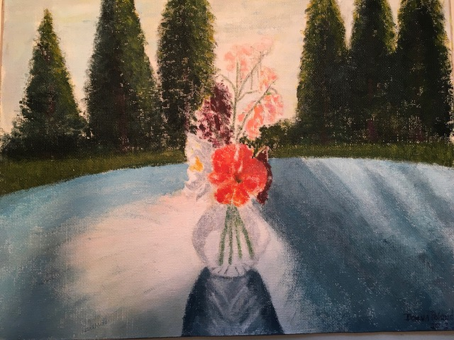 "Dona Poland ""Shadows at Sunset"" (acrylic), Neg"