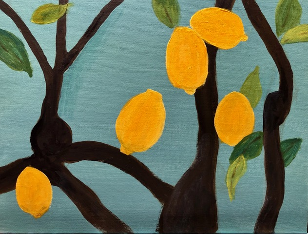 "Kathy Webster ""Portuguese Lemons"" (acrylic), Neg"