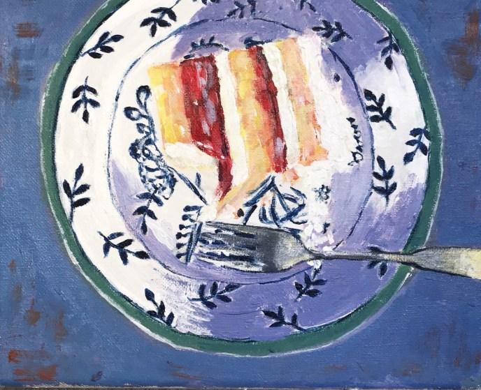 Strawberry Shortcake (acrylic on canvas, 8x10) - Price Negotiable