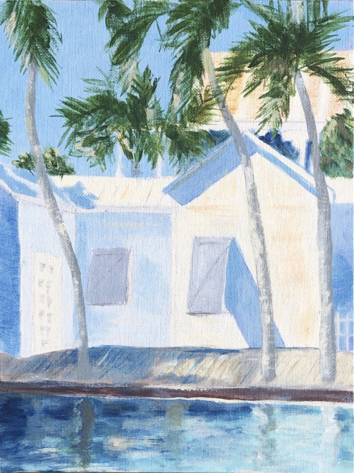 Light and Shadow: Morning, Key West (acrylic on canvas board, 8x10) - NFS