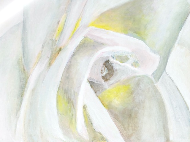 "Kathy Webster ""White Rose"" (acrylic), NFS"