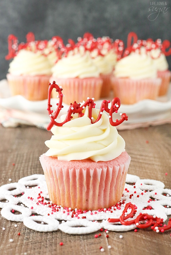 Strawberry Cupcakes With Cream Cheese Strawberry Dessert