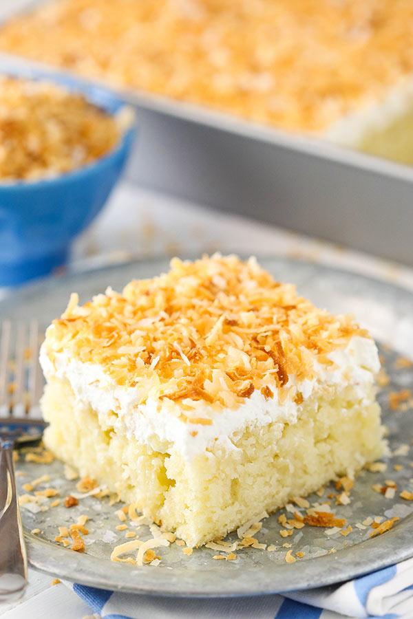 Coconut Poke Cake Life Love And Sugar