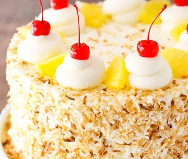 Pina Colada Layer Cake Layers Of Moist Coconut Cake Pineapple Filling And Coconut Frosting