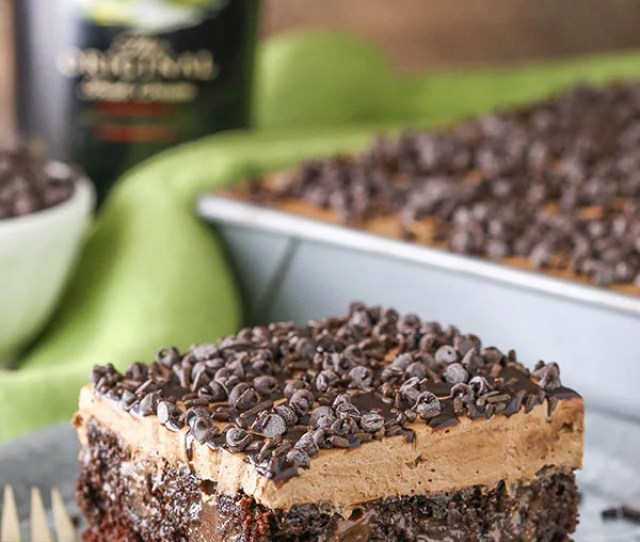Baileys Chocolate Poke Cake Full Of Baileys Flavor