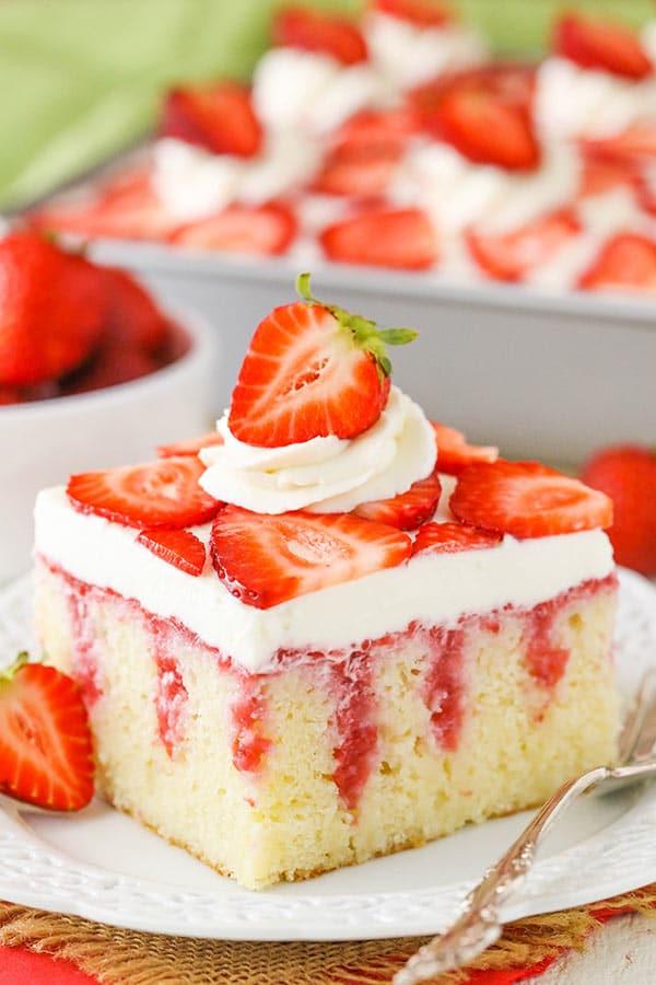Strawberries Poke Cake