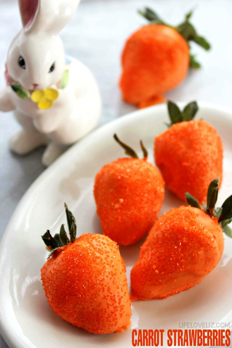 Carrot Strawberries - Easter Dessert