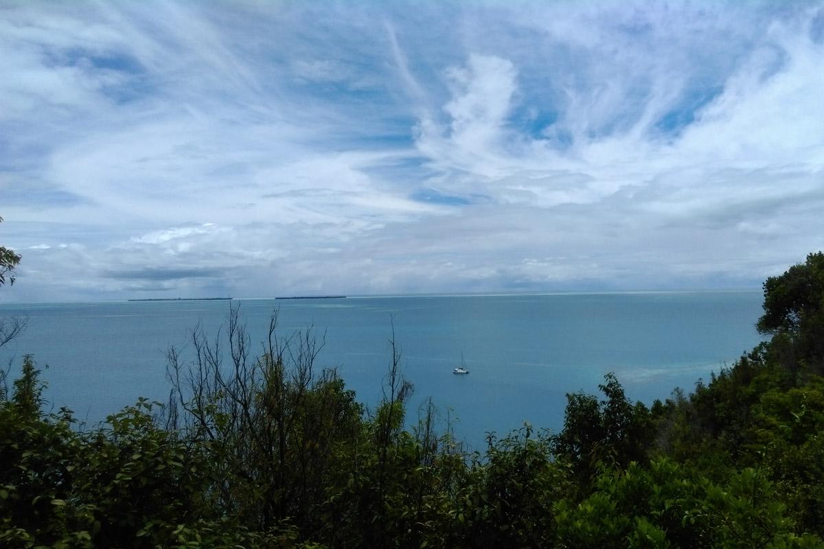 Wavy clouds over Ayu Island