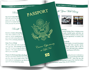Jobs at LifeNet EMS Passport Brochure
