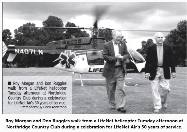 Roy Morgan, Don Ruggles, LifeNet Air 30th Anniversary Air Ambulance Texarkana Region