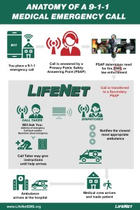 9-1-1 Medical Emergency Call Inforgraphic - Anatomy of a 911 Call