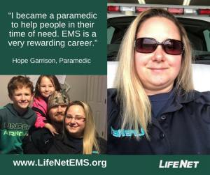 Hope Garrison, Paramedic, Hot Springs, Arkansas, LifeNet EMS jobs