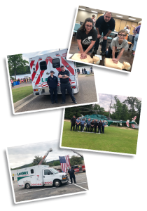 LifeNet in the Community - Ambulance Helicopter at Events