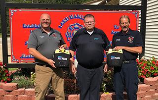 LifeNet EMS AED Donation to Lake Hamilton Fire & Rescue