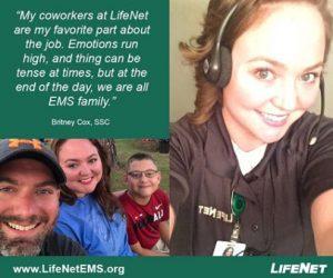 Britney Cox, SSC, LifeNet EMS Emergency Medical Dispatcher describes working at LifeNet.
