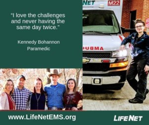 Kennedy Bohannon, Paramedic, LifeNet EMS