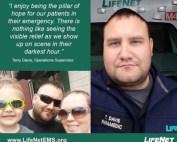 Terry Davis, Paramedic, LifeNet EMS, Malvern, AR