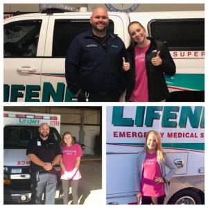 AHA Sweetheart spends time at LifeNet EMS in Hot Springs, Arkansas.