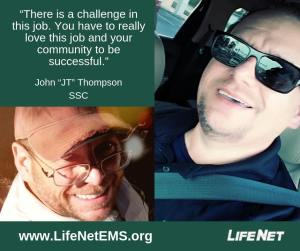 """John """"JT"""" Thompson is a dispatcher at LifeNet EMS in Hot Springs, Arkansas."""