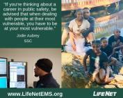 Jodie Aubrey, LifeNet EMS Dispatcher says